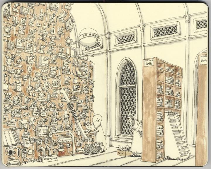 carnet croquis 01 720x578 Les carnets de croquis de Mattias Adolfsson  design bonus