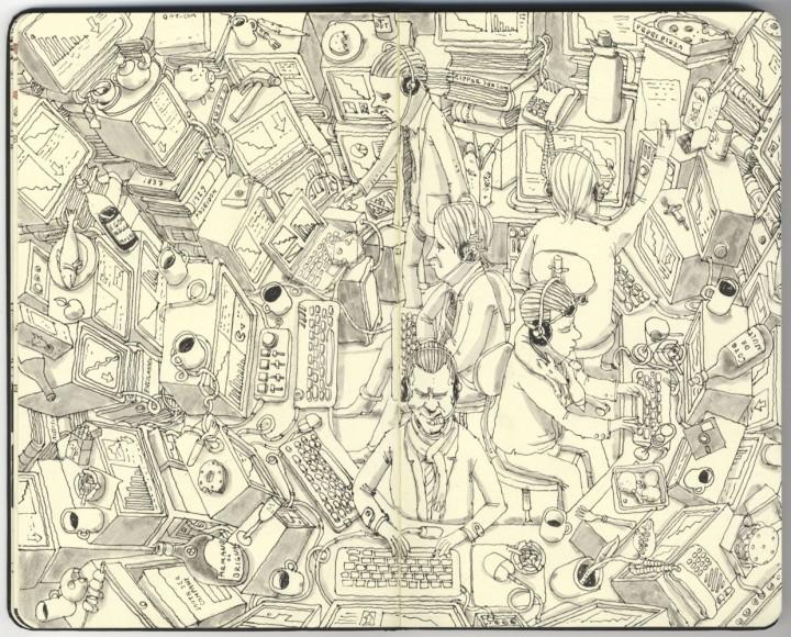 carnet croquis 02 720x580 Les carnets de croquis de Mattias Adolfsson  design bonus