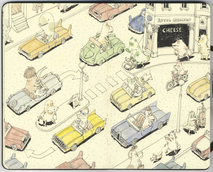 carnet croquis 03 720x581 Les carnets de croquis de Mattias Adolfsson  design bonus