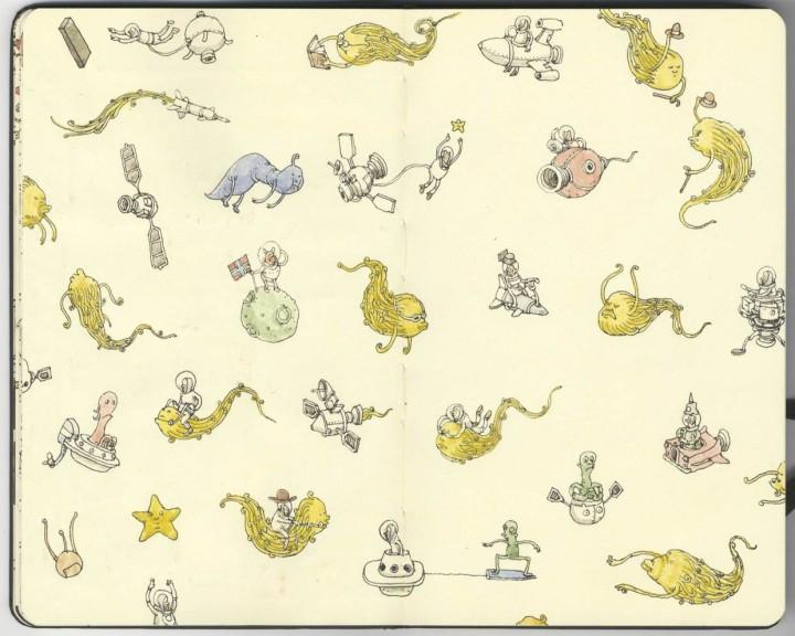 carnet croquis 06 720x576 Les carnets de croquis de Mattias Adolfsson  design bonus