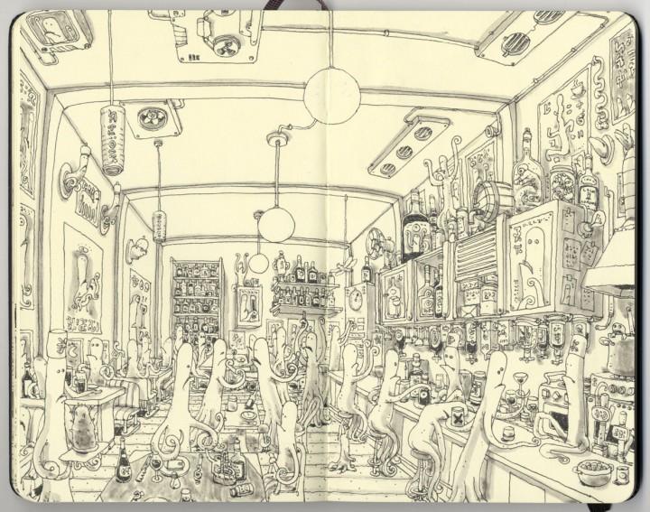 carnet croquis 08 720x567 Les carnets de croquis de Mattias Adolfsson  design bonus