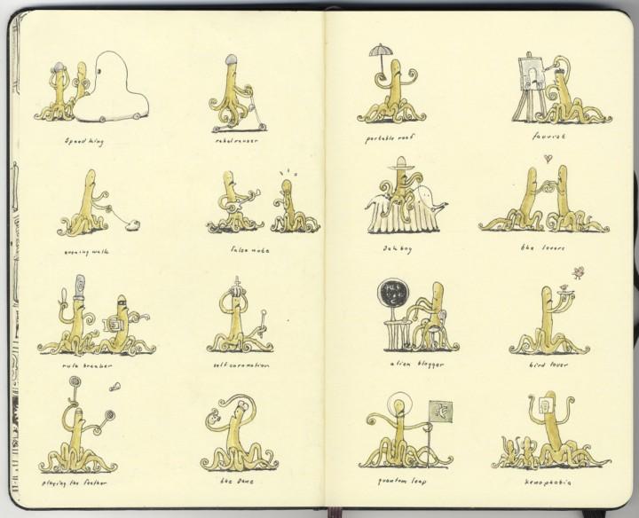 carnet croquis 11 720x584 Les carnets de croquis de Mattias Adolfsson  design bonus