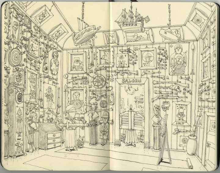 carnet croquis 16 720x567 Les carnets de croquis de Mattias Adolfsson  design bonus