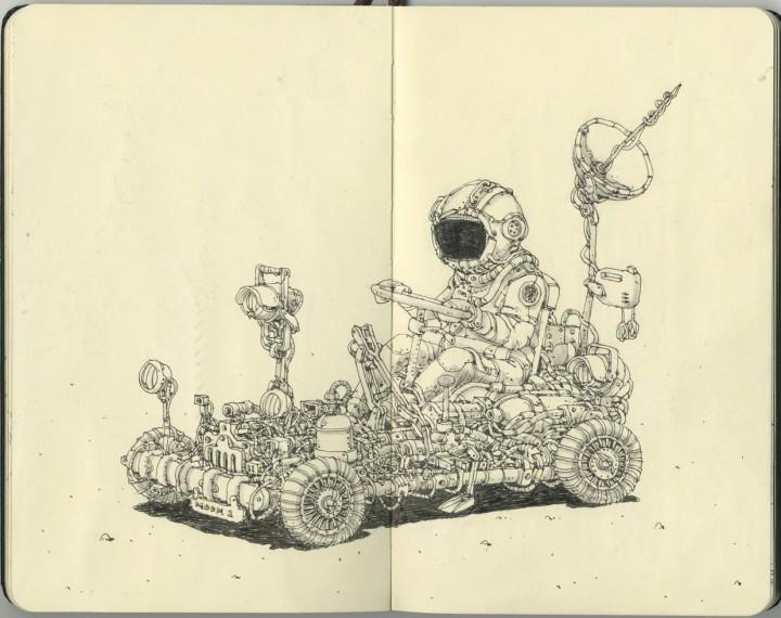 carnet croquis 17 720x570 Les carnets de croquis de Mattias Adolfsson  design bonus