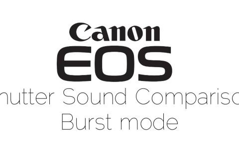 Le bruit de déclenchement en rafale des Canon Eos