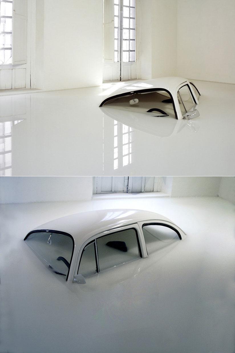 La coccinelle volkswagen et l 39 art contemporain for Art contemporain sculpture