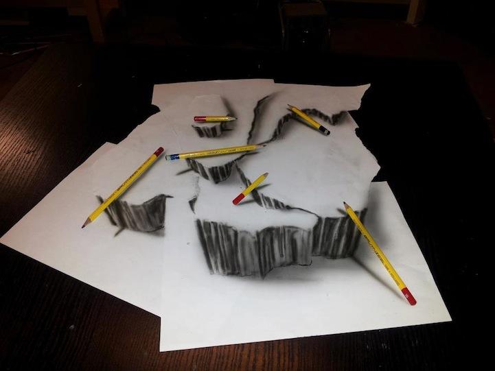 Des dessins au crayon en relief - Coloriage relief ...