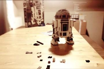 La construction du Lego R2D2