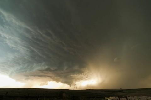 la formation d'un orage supercellulaire