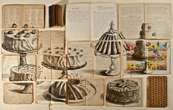 peinture livre 02 720x457 Des peintures sur des livres étalés peinture 2 bonus art