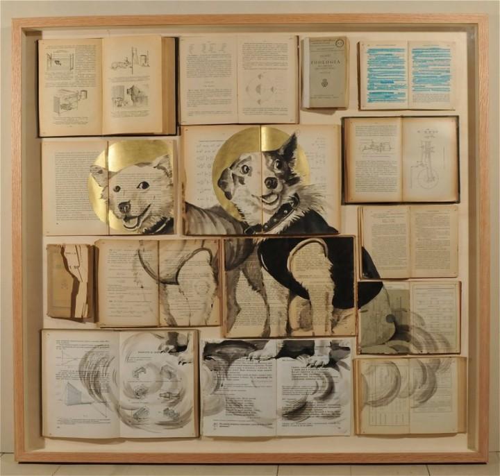 peinture livre 05 720x686 Des peintures sur des livres étalés peinture 2 bonus art