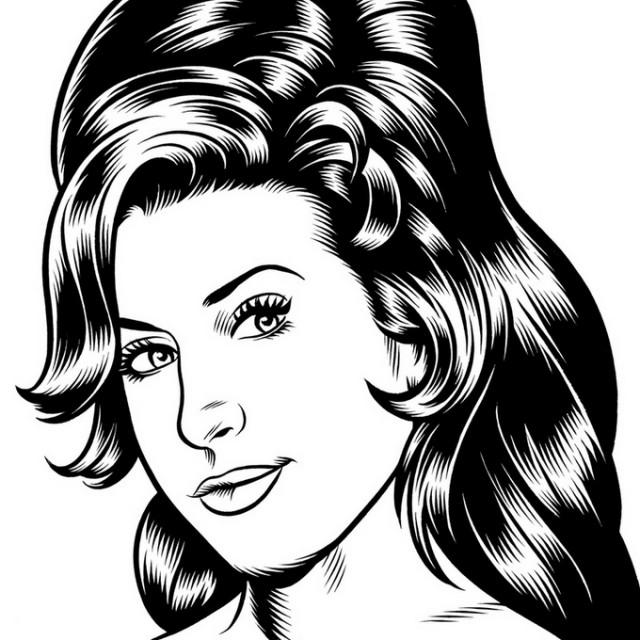 portrait noir blanc dessin 34 Des portraits illustrés en noir et blanc  design bonus