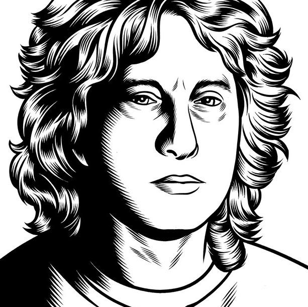 portrait noir blanc dessin 38 Des portraits illustrés en noir et blanc  design bonus