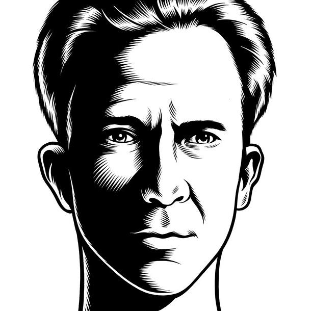portrait noir blanc dessin 41 Des portraits illustrés en noir et blanc  design bonus