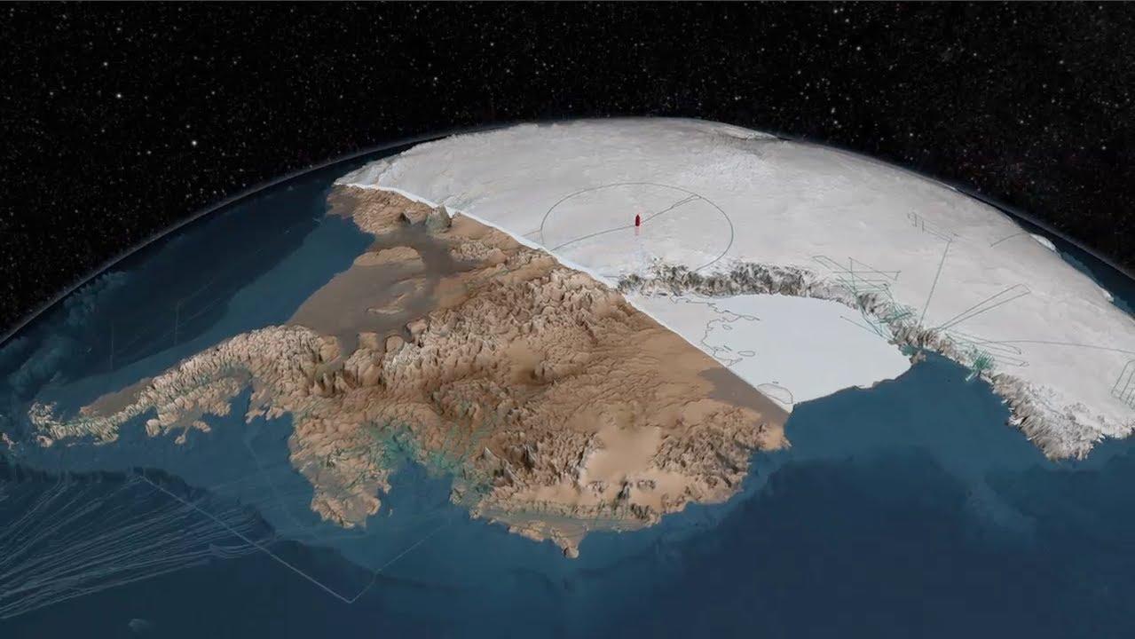 Sous la glace de l'Antarctique