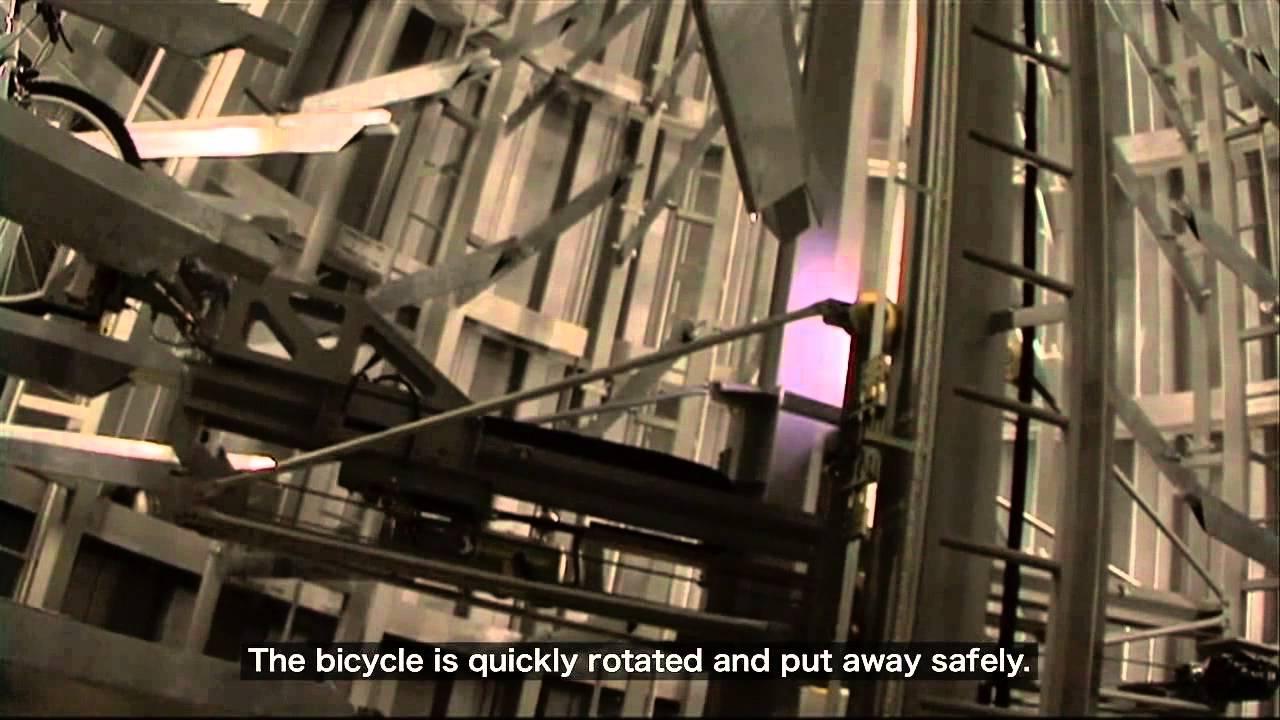 Un parking à vélos au Japon