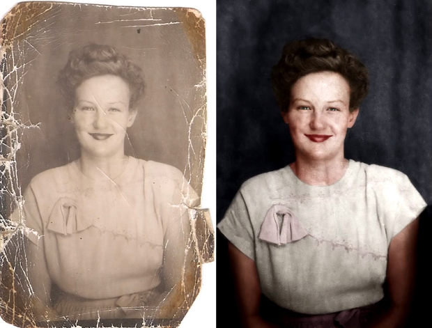 Photo Colorization avant apres Comment restaurer et coloriser une vieille photo avec Photoshop  video technologie photo bonus