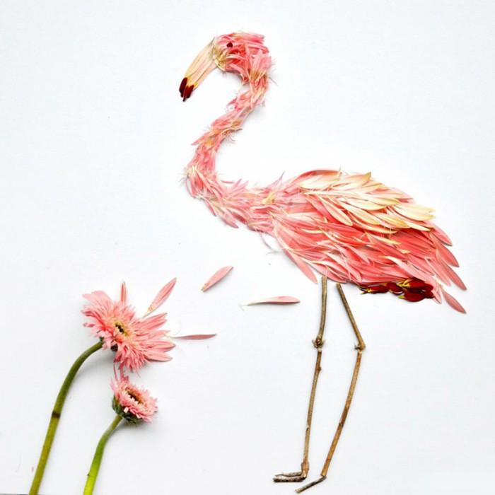 oiseau petale 03 700x700 Des oiseaux en pétales  divers bonus