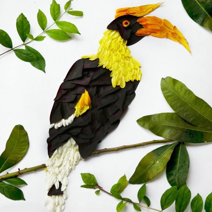 oiseau petale 08 700x700 Des oiseaux en pétales  divers bonus