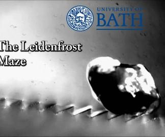 Un labyrinthe avec l'effet Leidenfrost