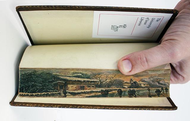 peinture tranche livre 07 Des peintures cachées dans la tranche des livres ( 1650   1900 )  peinture 2 information histoire bonus art