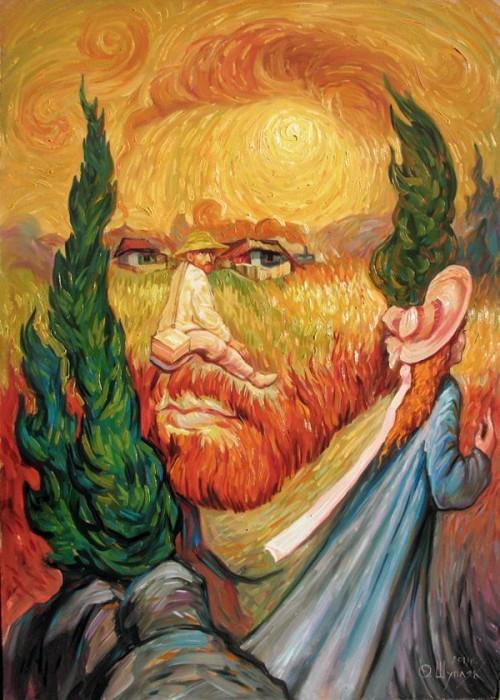 visage paysage 01 500x700 Des paysages anthropomorphiques  peinture 2 bonus art
