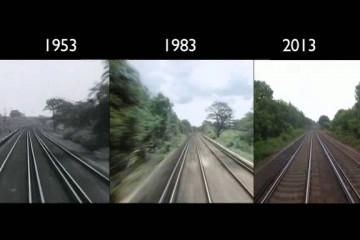 Voyage en train de Londres à Brighton en 1953, 1983 et 2013