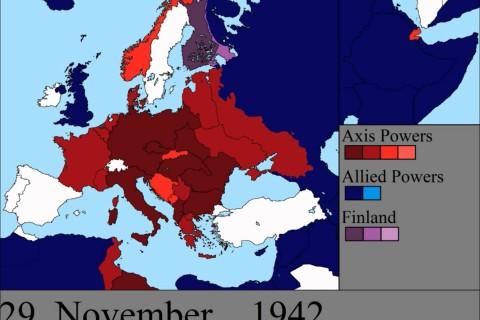 La Seconde Guerre Mondiale en Europe jour après jour