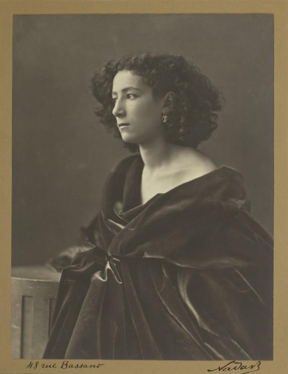 Nadar Portrait Sarah Bernhardt 578x750 Les portraits de Nadar  photographie histoire