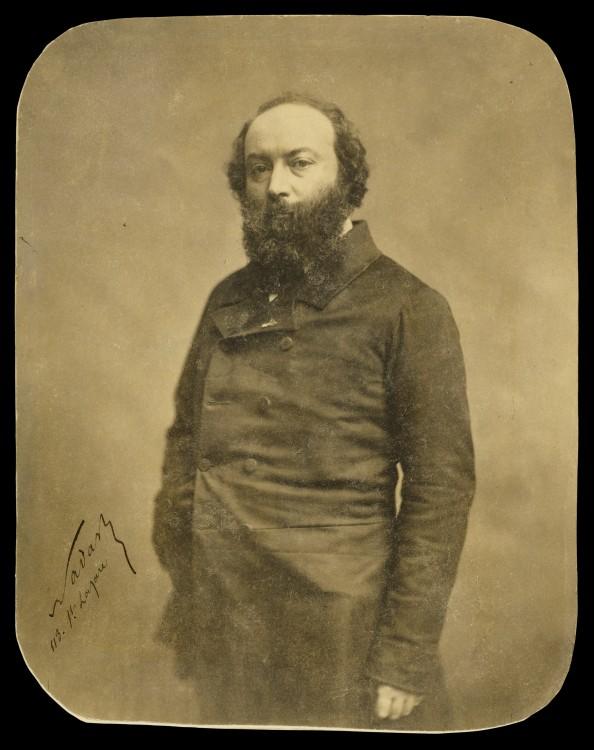 Nadar Portrait Theodore Rousseau 594x750 Les portraits de Nadar  photographie histoire