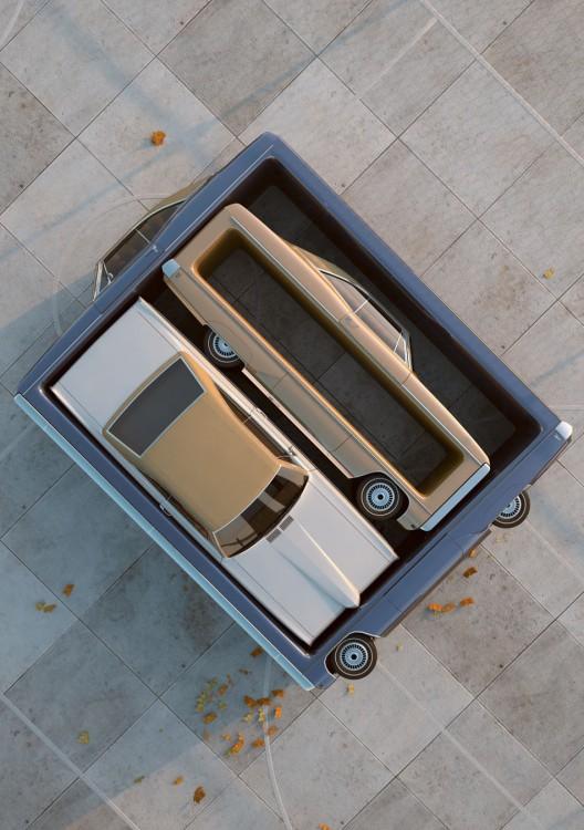 enchevetrement voiture 04 528x750 Des enchevêtrements numériques de voitures  design art