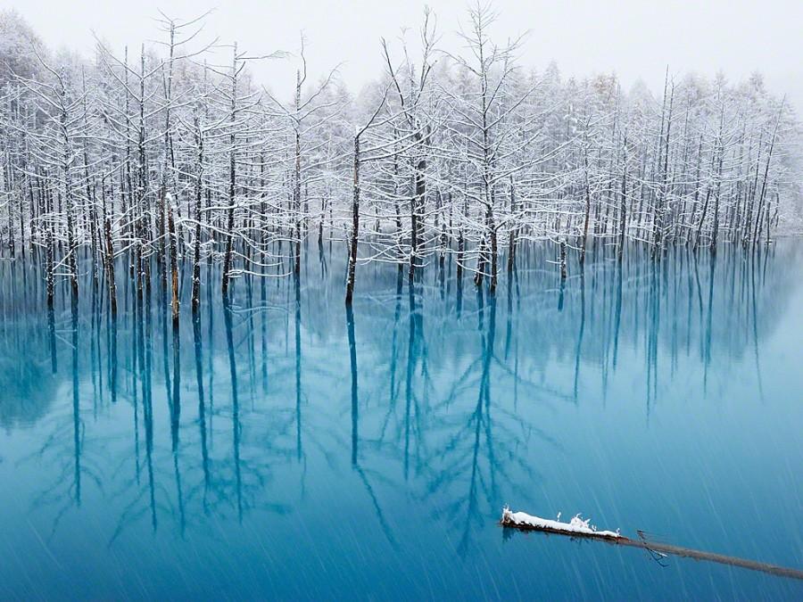lac bleu Hokkaido 01 900x675 Un lac bleu à Hokkaido  lieux information