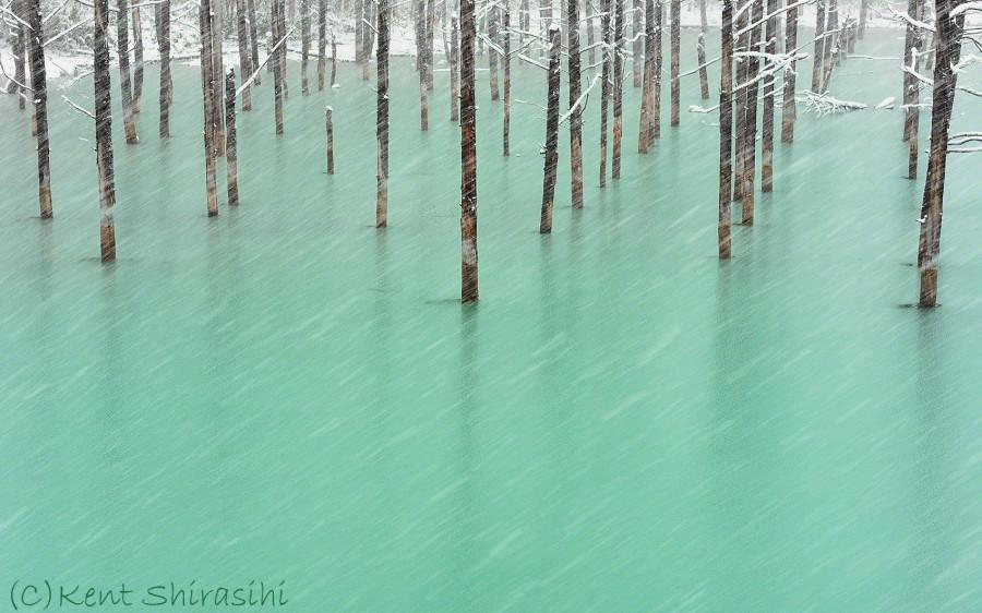 lac bleu Hokkaido 04 900x562 Un lac bleu à Hokkaido  lieux information