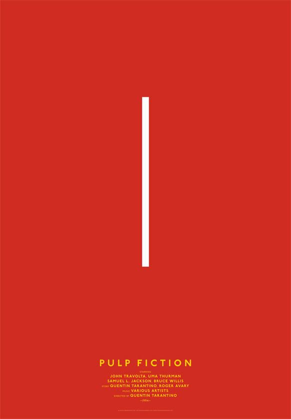 Des affiches minimalistes de films avec des lignes for Affiche minimaliste