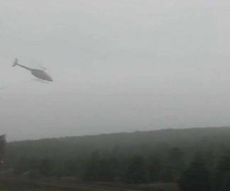 Récolter des sapins de Noël avec un hélicoptère