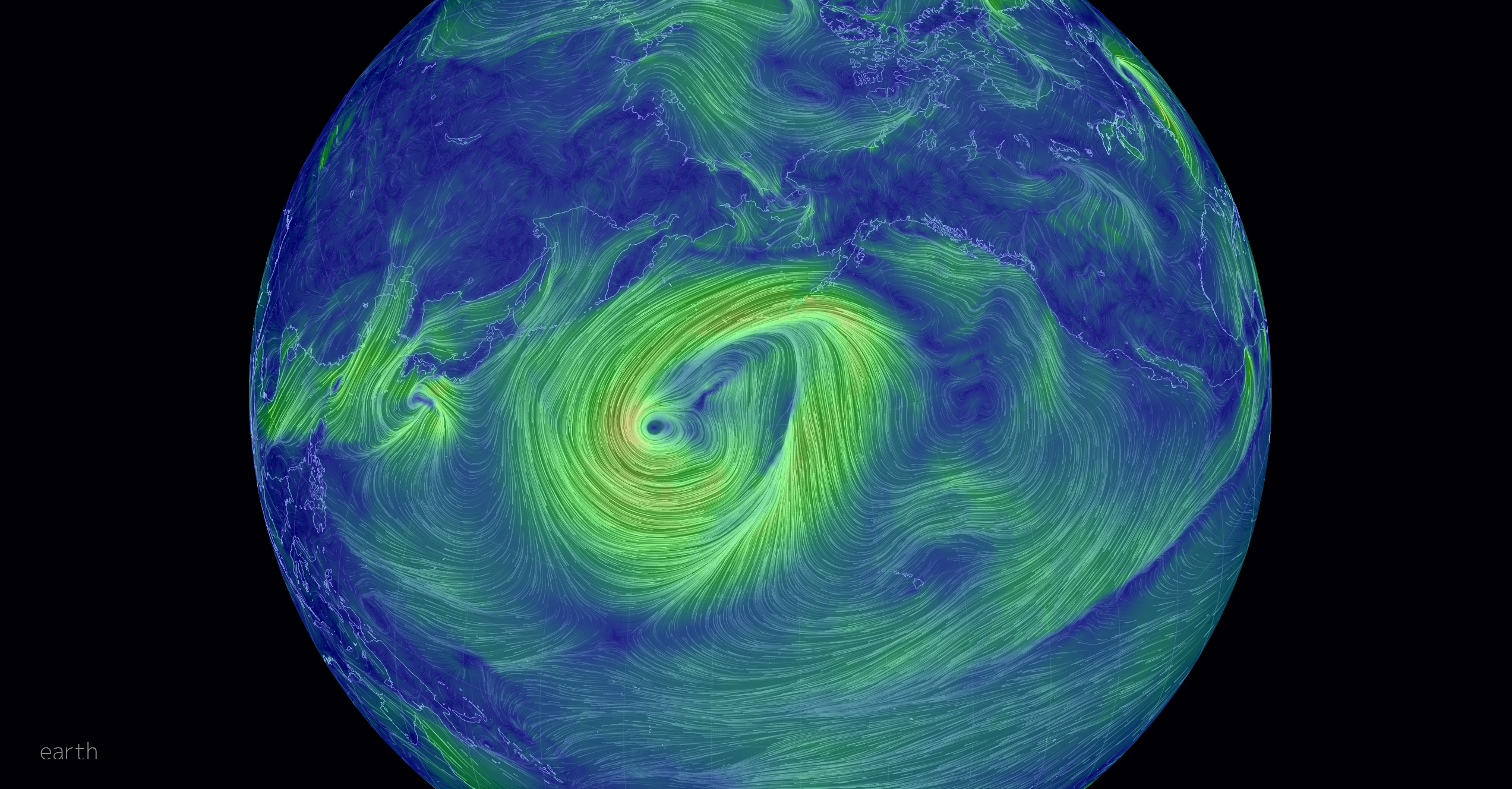 Le vent visualisé en direct