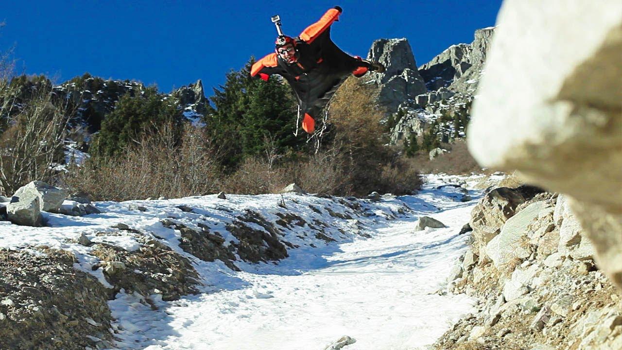 Wingsuit : Couloir de l'Ensa à Chamonix