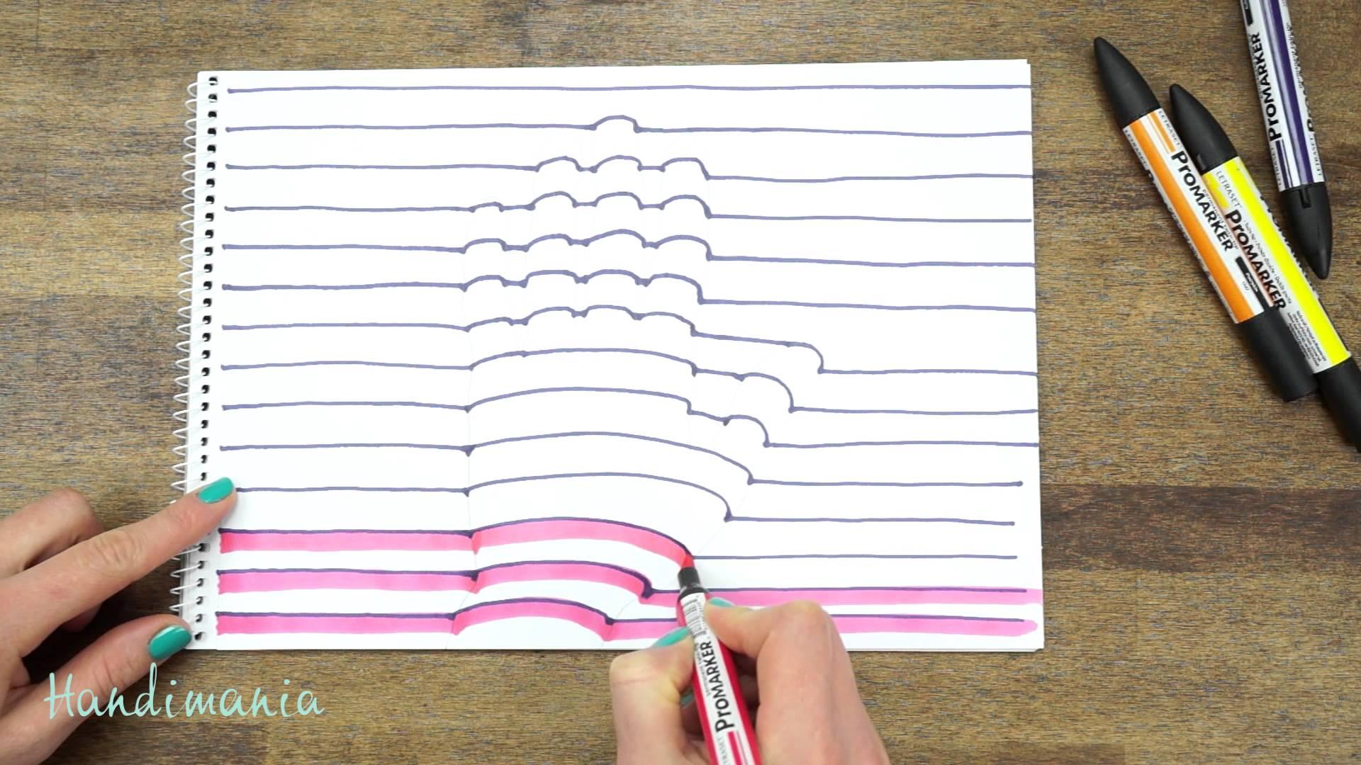 Dessinez votre main en 3D avec une illusion d'optique