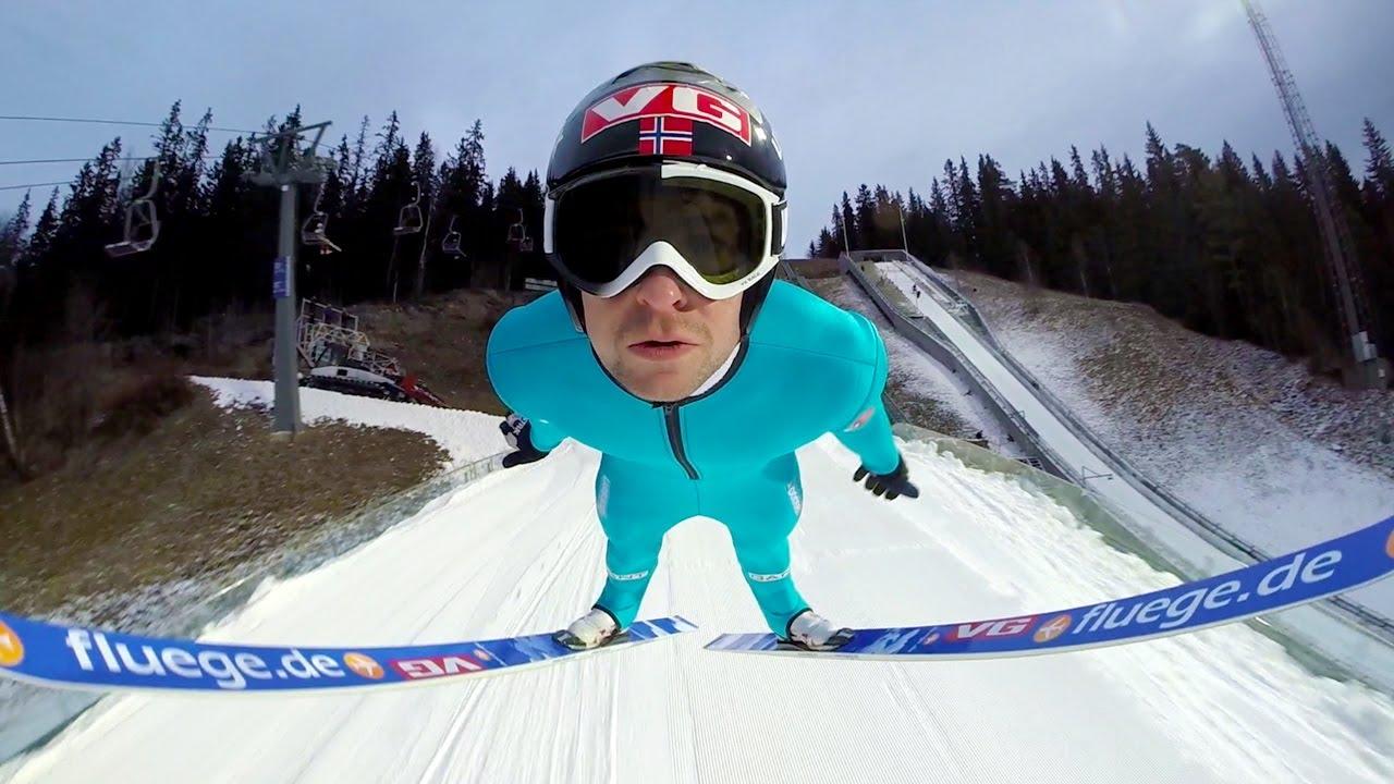 Du saut à ski embarqué
