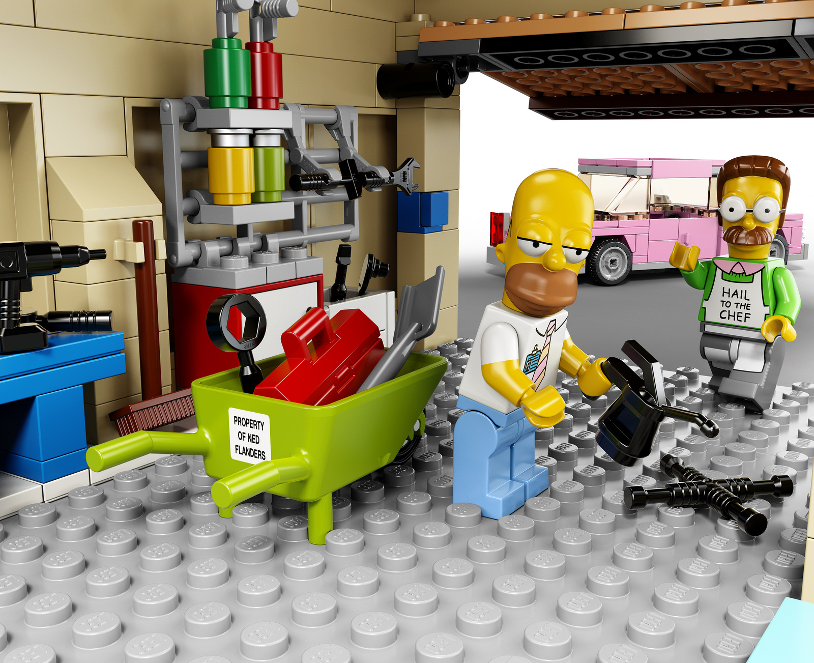 le kit lego officiel de la maison des simpsons. Black Bedroom Furniture Sets. Home Design Ideas
