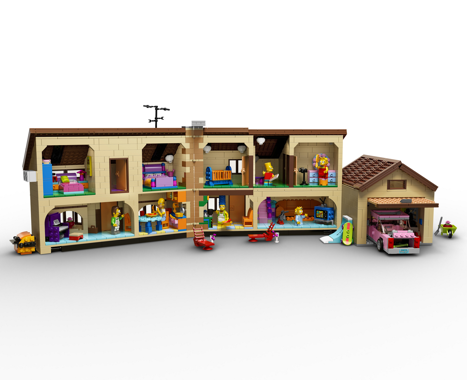 le kit lego officiel de la maison des simpsons