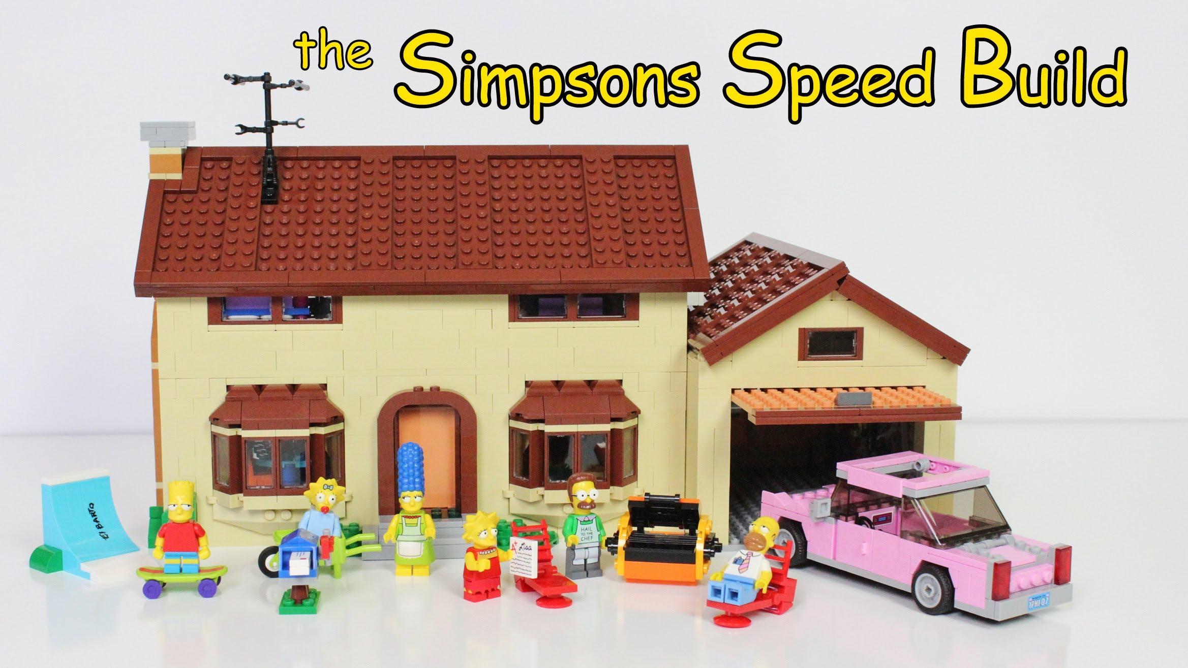 Le montage de la maison des Simpsons de Lego en timelapse