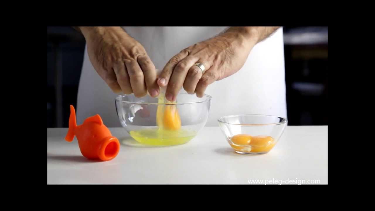 Le poisson pour séparer le jaune d'oeuf