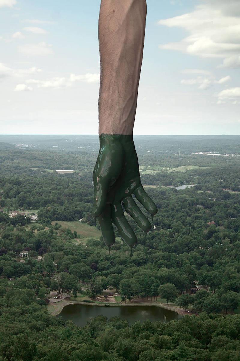 Une main dans le paysage for Le paysage