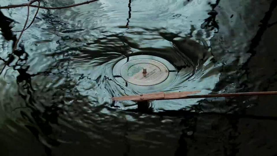 Un tourne-disque aquatique