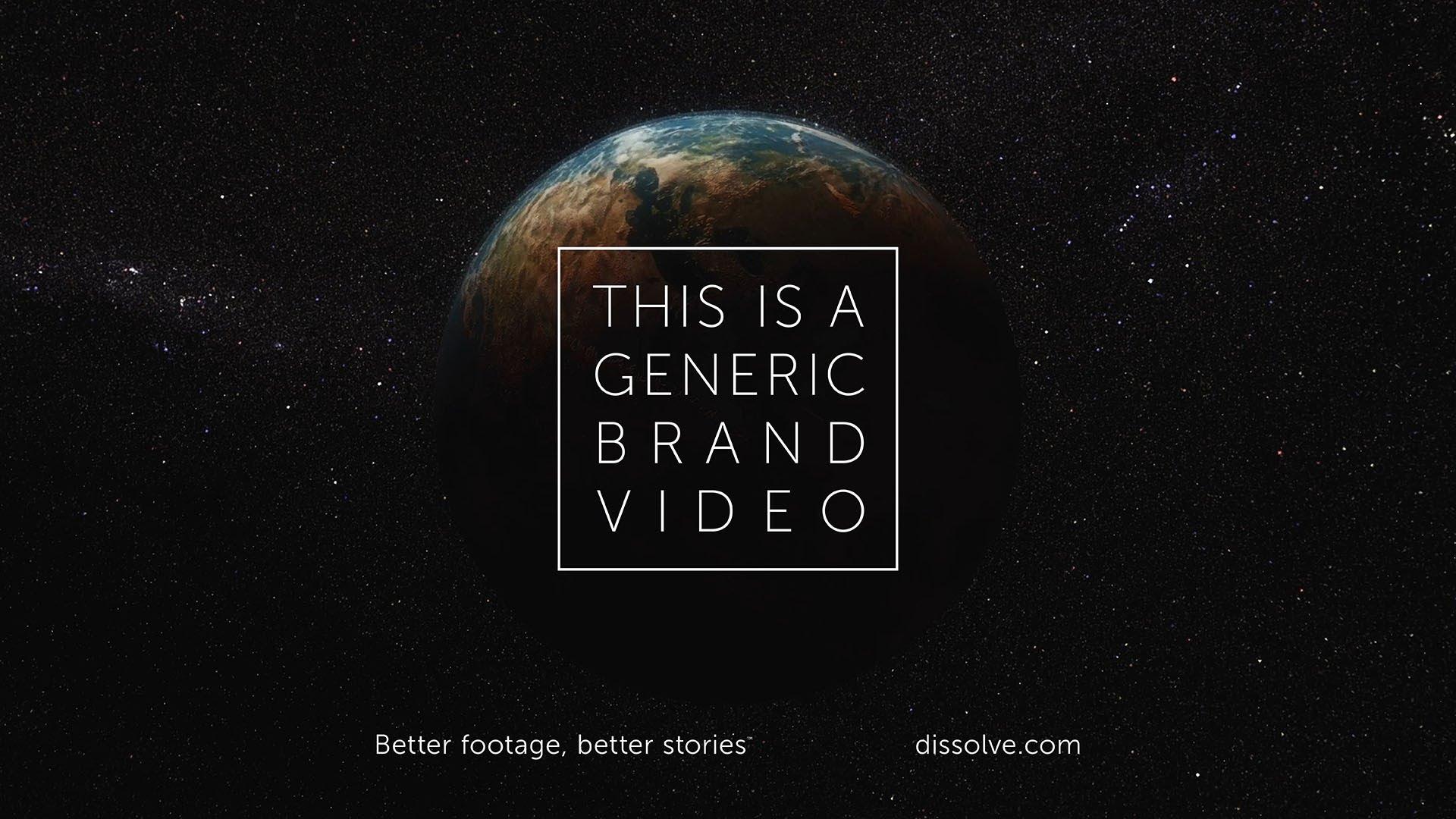 Une publicité générique
