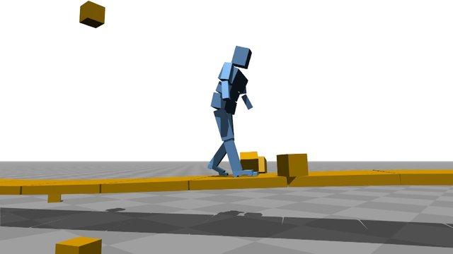 Une simulation de bipède qui apprend à marcher