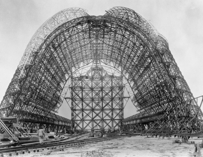Construction of Hangar One at NAS Sunnyvale circa 1931