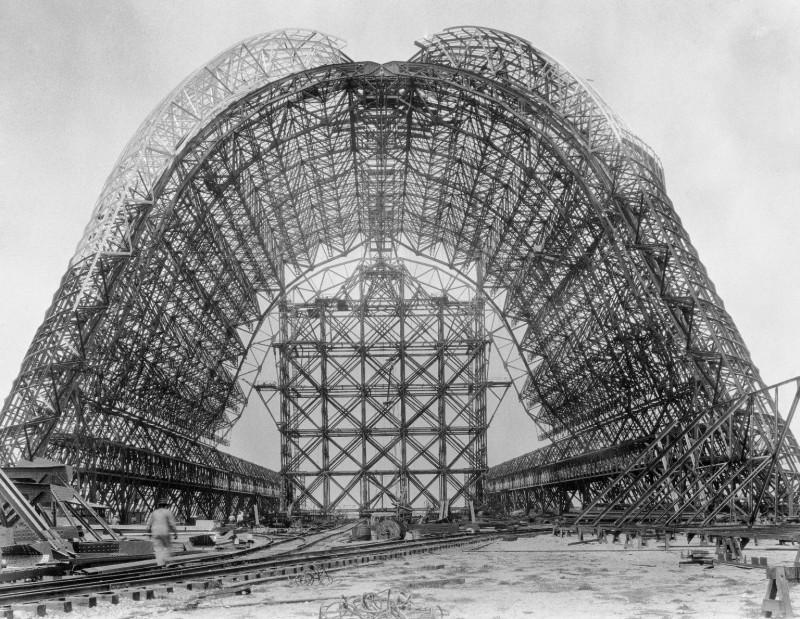 Construction of Hangar One at NAS Sunnyvale circa 1931