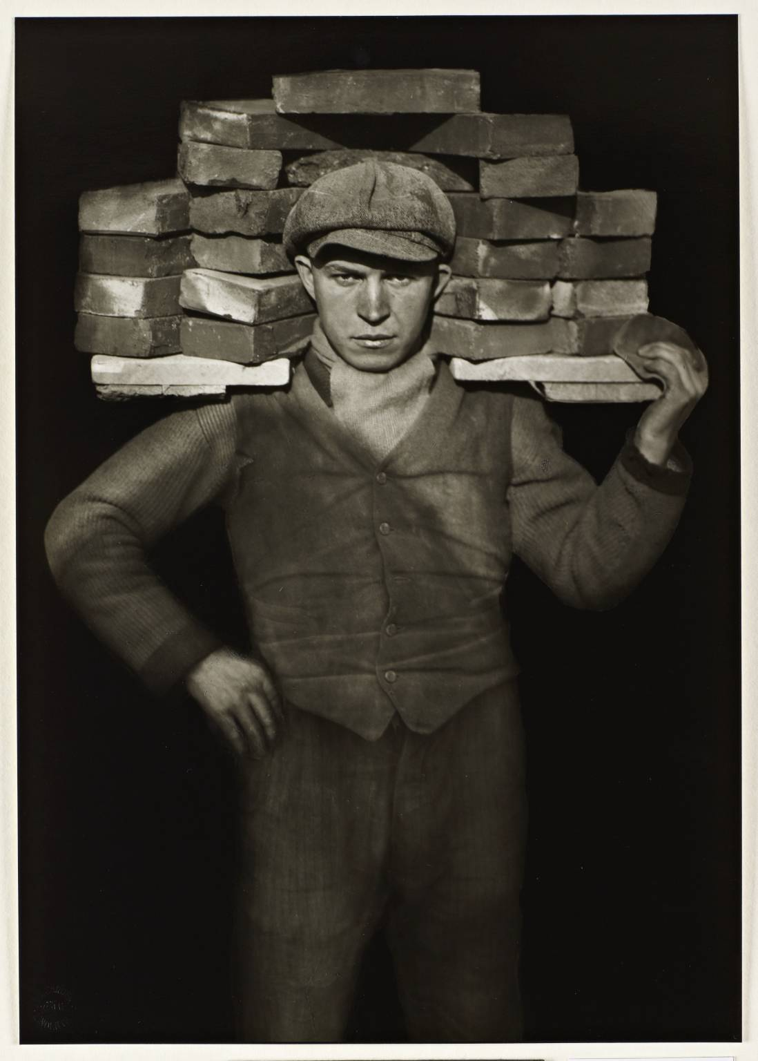 Bricklayer 1928, printed 1990 by August Sander 1876-1964
